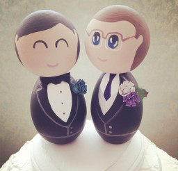 1024x1024px Same Sex Custom Wedding Cake Toppers Picture in Wedding Cake