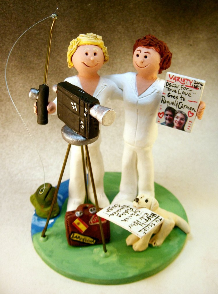 Same Sex Wedding Cake Topper Picture in Wedding Cake