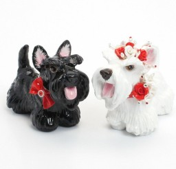 1024x1024px Scottish Terrier Wedding Cake Topper Picture in Wedding Cake