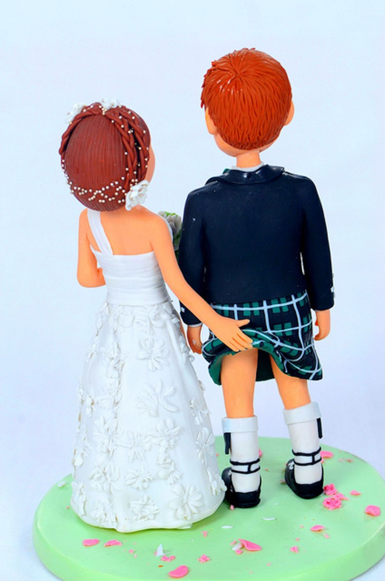 Scottish Wedding Cake Topper Picture in Wedding Cake