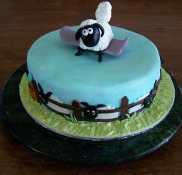 1024x768px Shaun The Sheep Birthday Cake Ideas Picture in Birthday Cake