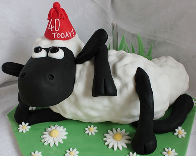 Shaun The Sheep Birthday Cake Picture in Birthday Cake