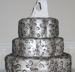 1024x1365px Silver Dancers Wedding Cake Picture in Wedding Cake