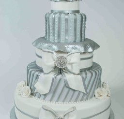 1024x1542px Silver Elegance Wedding Cake Picture in Wedding Cake