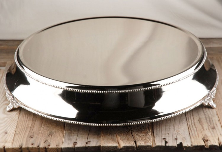 Silver Plated Wedding Cake Stand Picture in Wedding Cake