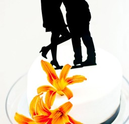 1024x1528px Simply Silhouette Wedding Cake Topper Picture in Wedding Cake