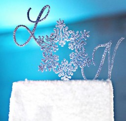 1024x664px Snowflake Monogram Wedding Cake Topper Picture in Wedding Cake