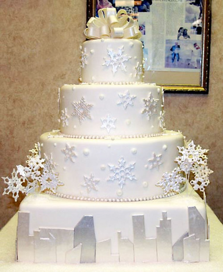 Snowflake Wedding Cake Designs Picture in Wedding Cake