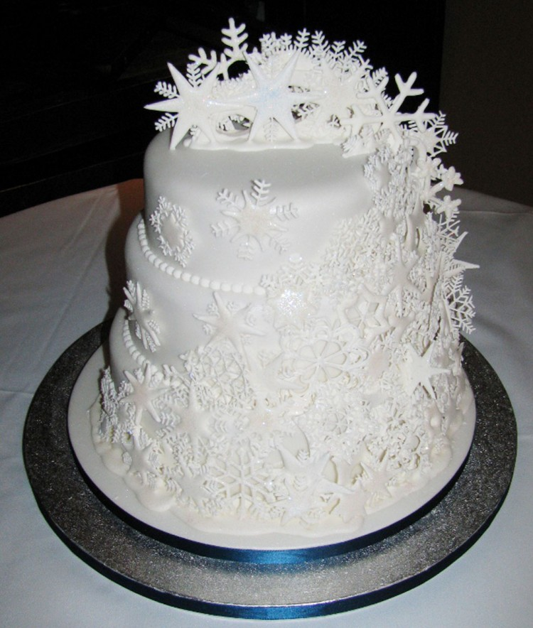 Snowflake Wedding Cakes Picture in Wedding Cake