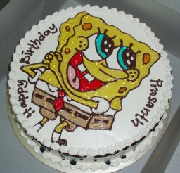 1024x1026px SpongeBob Birthday Cake Design Picture in Birthday Cake