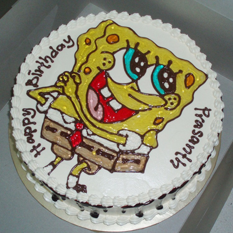 SpongeBob Birthday Cake Design Picture in Birthday Cake