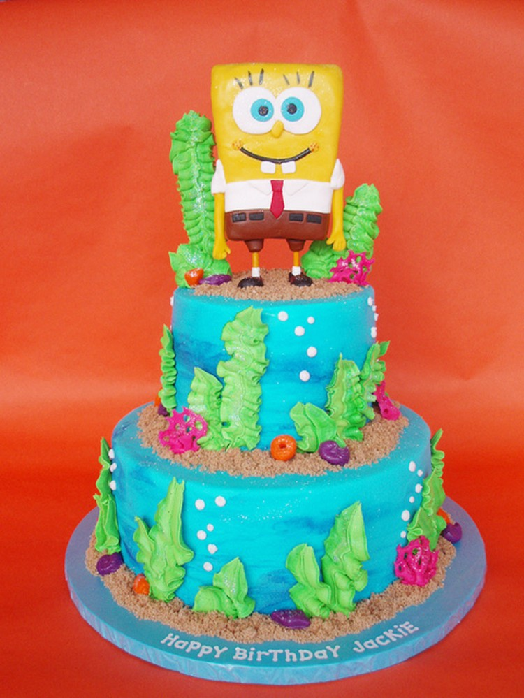 SpongeBob Birthday Cake Ideas Picture in Birthday Cake
