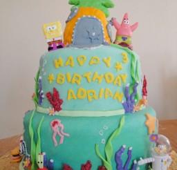1024x1365px Spongebob Birthday Cake Picture in Birthday Cake