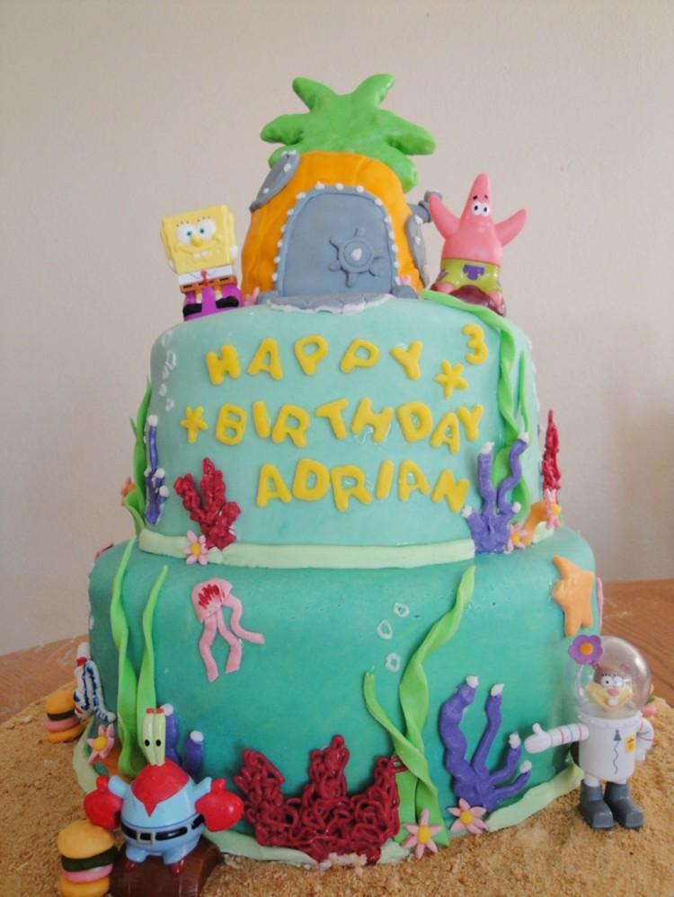 Spongebob Birthday Cake Picture in Birthday Cake