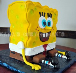 1024x686px Spongebob Squarepants Birthday Cake Picture in Birthday Cake