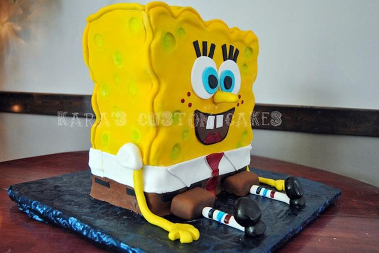Spongebob Squarepants Birthday Cake Picture in Birthday Cake