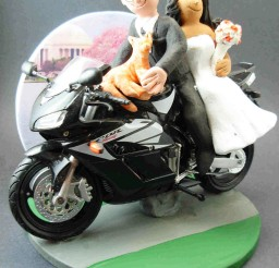 1024x1233px Sportbike Motorcycle Wedding Cake Topper Picture in Wedding Cake