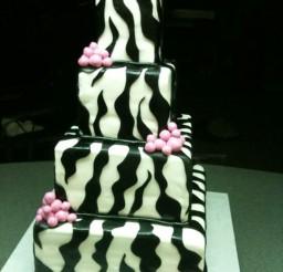 1024x1365px Square Zebra Wedding Cakes Picture in Wedding Cake
