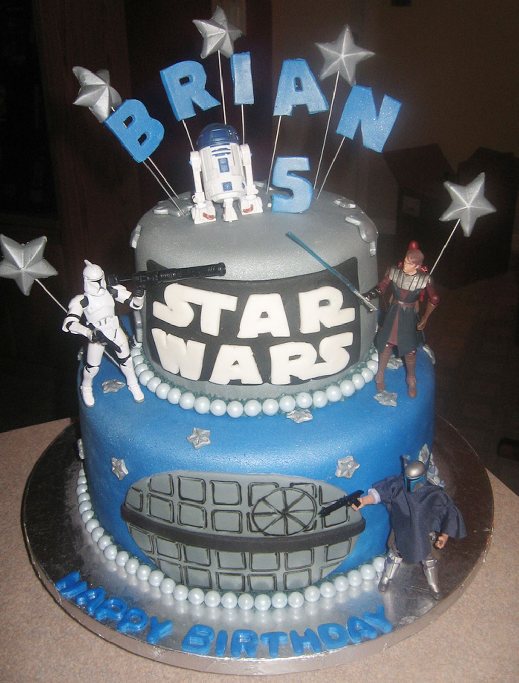 Darth Vader Baby Cake