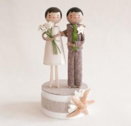 1024x1024px Starfish Beachside Wedding Cake Topper Picture in Wedding Cake