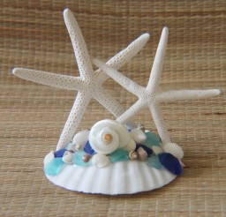 1024x1536px Starfish Wedding Cake Topper Picture in Wedding Cake