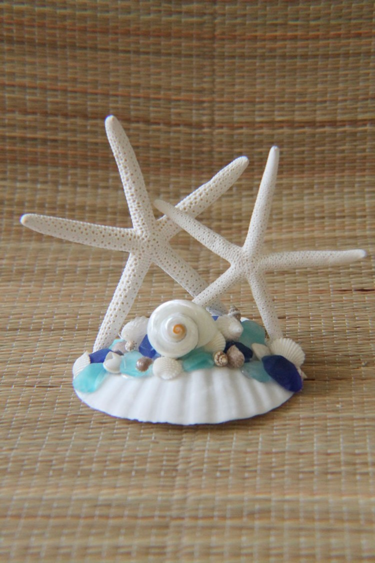 Starfish Wedding Cake Topper Picture in Wedding Cake