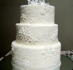 1024x1292px Sugar Snowflakes Wedding Cake Decorated Picture in Wedding Cake
