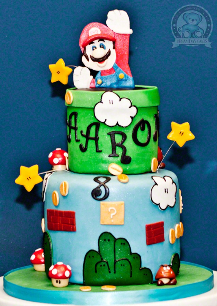 Super Mario Birthday Cake Themes Picture in Birthday Cake