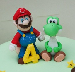1024x790px Super Mario And Yoshi Birthday Cake Toppers Picture in Birthday Cake