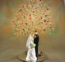 1024x1024px Swarovski Crystal Fall Tree Wedding Cake Topper Picture in Wedding Cake
