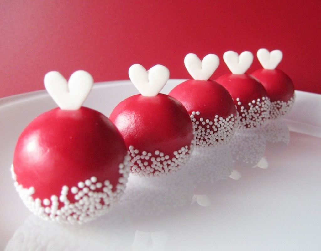 Cake Pop Designs Valentines Day : Sweet Valentine Cake Balls Valentine Cakes - Cake Ideas by ...
