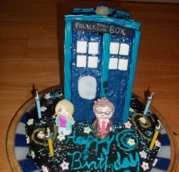 1024x1365px Tardis Birthday Cake Picture in Birthday Cake