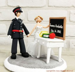 1024x1024px Teacher Policeman Wedding Cake Topper Picture in Wedding Cake