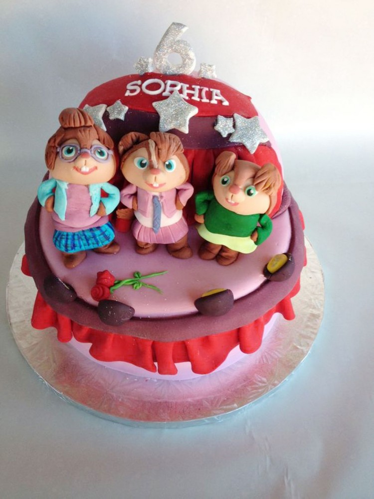 The Chipettes Birthday Cake Picture in Birthday Cake