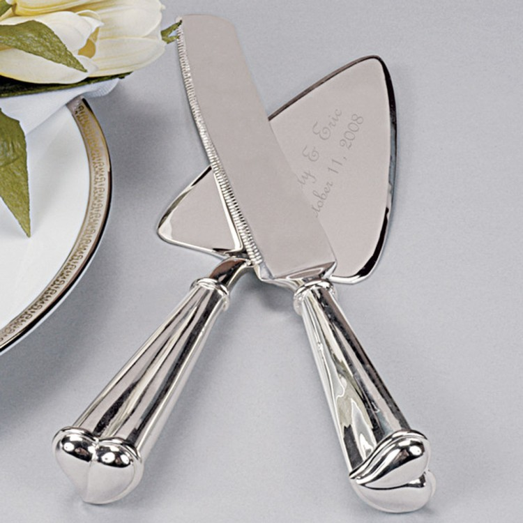 The Love Wedding Cake Knife Server Set Picture in Wedding Cake