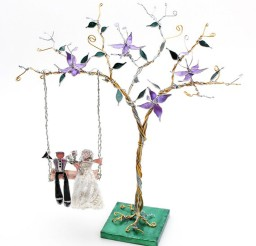 1024x1071px The Tree Swing Custom Wedding Cake Topper Picture in Wedding Cake