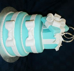 1024x680px Tiffany Blue Decoration Wedding Cake Picture in Wedding Cake
