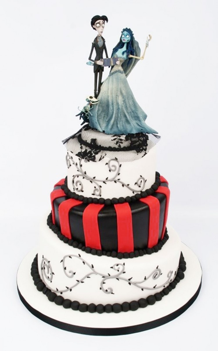 Tim Burton Wedding Cakes Design 2 Picture in Wedding Cake