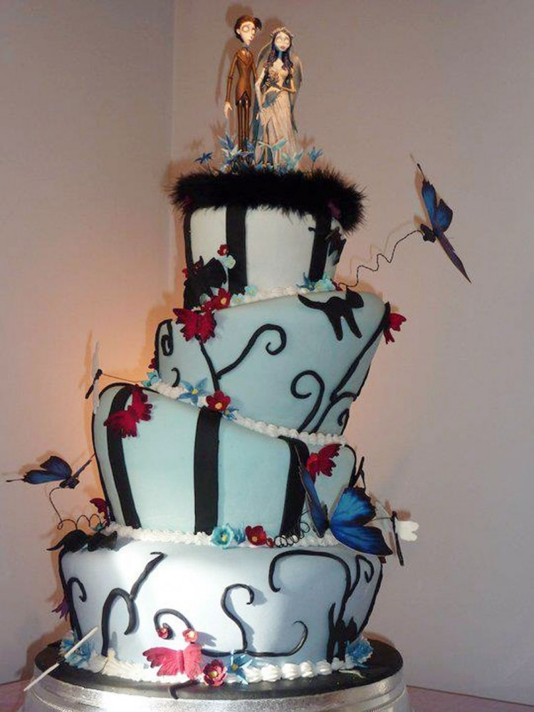 tim burton inspired wedding cakes tim burton wedding cakes design 5 wedding cake cake 21007