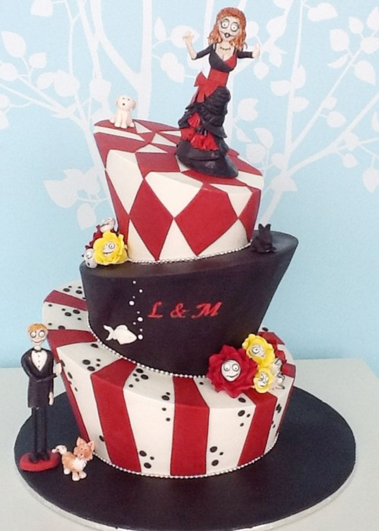 Tim Burton Wedding Cakes Design 6 Picture in Wedding Cake