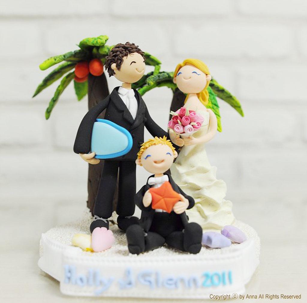 tropical beach custom wedding cake topper wedding cake cake ideas by. Black Bedroom Furniture Sets. Home Design Ideas