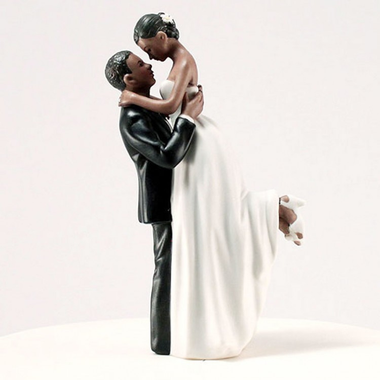 True Romance Ethnic Wedding Cake Toppers Picture in Wedding Cake