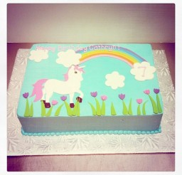 1024x1024px Unicorn Birthday Cake Picture in Birthday Cake