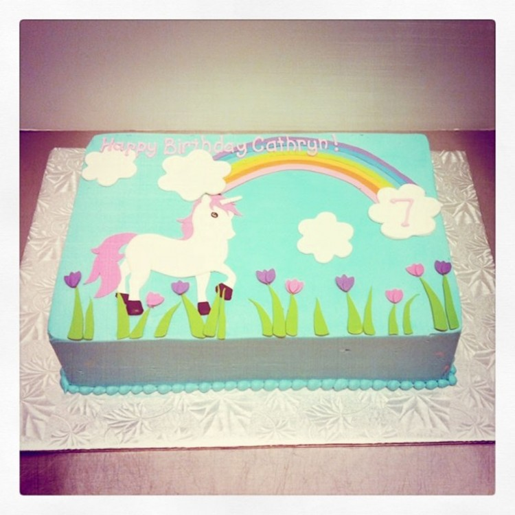 Unicorn Birthday Cake Picture in Birthday Cake