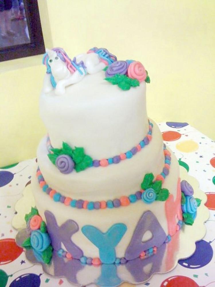 Unicorn Birthday Cake Decorating Picture in Birthday Cake