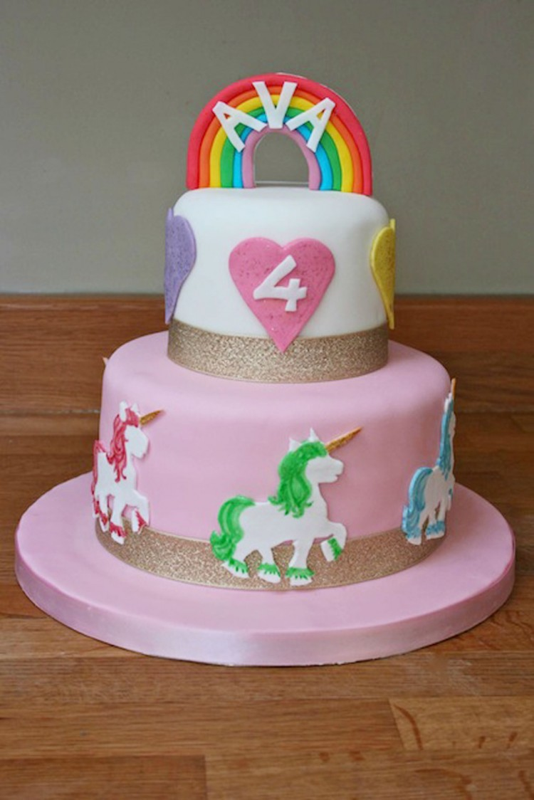 Unicorn Birthday Cake Ideas Picture in Birthday Cake