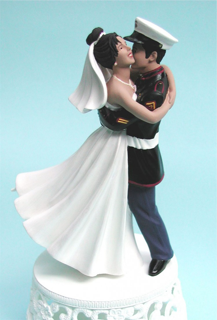 Unique For Marine Wedding Cake Toppers Picture in Wedding Cake