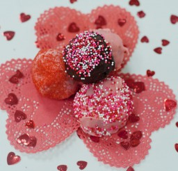 1024x682px Valentine's Day Cocktails And Cake Balls Picture in Valentine Cakes