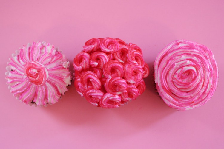 Valentine's Day Swirled Cupcakes Picture in Valentine Cakes