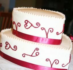 1024x1189px Valentine Hearts Wedding Cake Picture in Wedding Cake